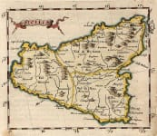 MORDEN SCARCE MAP OF SICILY