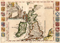SCARCE DE LA CRIX MAP OF THE BRITISH ISLES