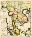 RARE MORDEN MAP OF INDO CHINA AND MALASIA