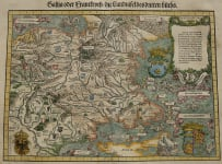 STUMPF   VERY RARE MAP OF FRANCE