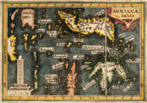 BERTIUS MAP OF THE MOLUCCAS OR MALUKA ISLANDS
