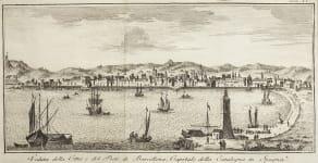 SALMON  VIEW OF BARCELONA  1740