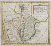 MOLL MAP OF LA PLATA    URAGUAY   TUCUMANIA