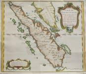 BELLIN'S MAP OF SUMATRA STRAITS OF SINGAPORE