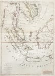 STUNNING  MONUMENTAL MAP OF SOUTH EAST ASIA  MALAY PENINSULA  MORTIER 1700