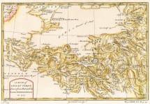 RARE MAP OF TIBET   1717