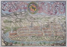MUNSTER DOUBLE PAGE MAP OF BERNE 1560