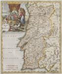 STUNNING MAP OF PORTUGAL   TIRION