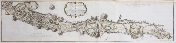 SCARCE MAP OF ECUADOR AND THE TRIANGULATION OF THE ANDES