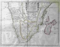 SOUTH AFRICA BASSE AETHIOPIE qui comprend les Royaume de Congo, Coste et pays du Cafres, Empires du Monomotapa, et Monoemugi