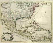 (NORTH AMERICA WEST INDIES) CARTE DU MEXIQUE ET DE LA FLORIDE