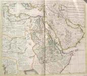 (MIDDLE EAST ARABIA,EGYPT) CARTE DE L'EGYPTE DE LA NUBIE DE L'ABISSINIE