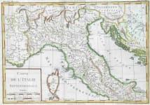 CARTE DE L'ITALIE SETENTRIONALE