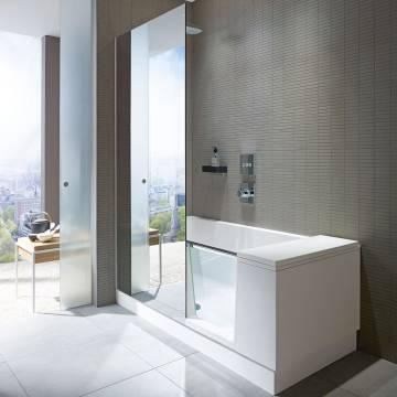Duschbadewanne preis  Duravit Shower & Bath Dusch-Badewanne Ecke links 170 x 75 cm ...