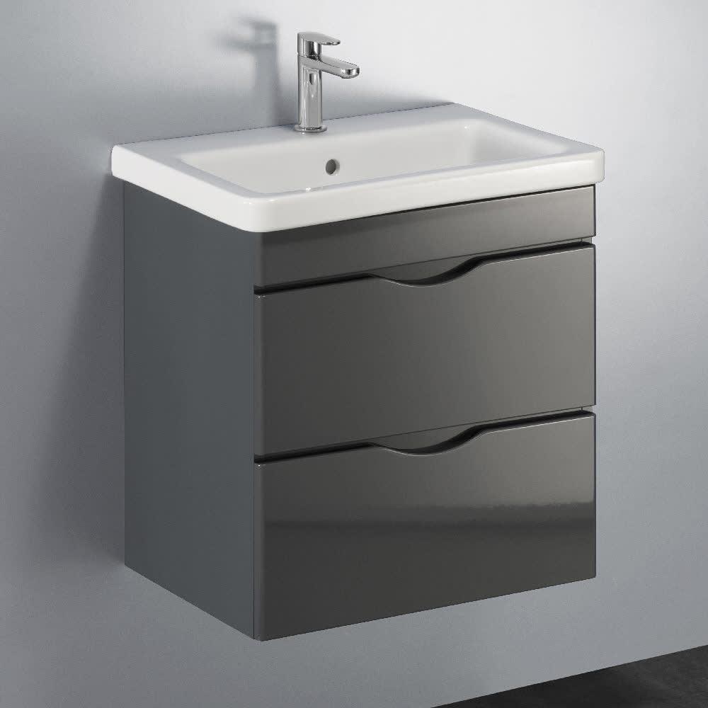 Megabad Home Waschtischkombination 60 Cm Mit 2 Auszügen 21ng1311060e