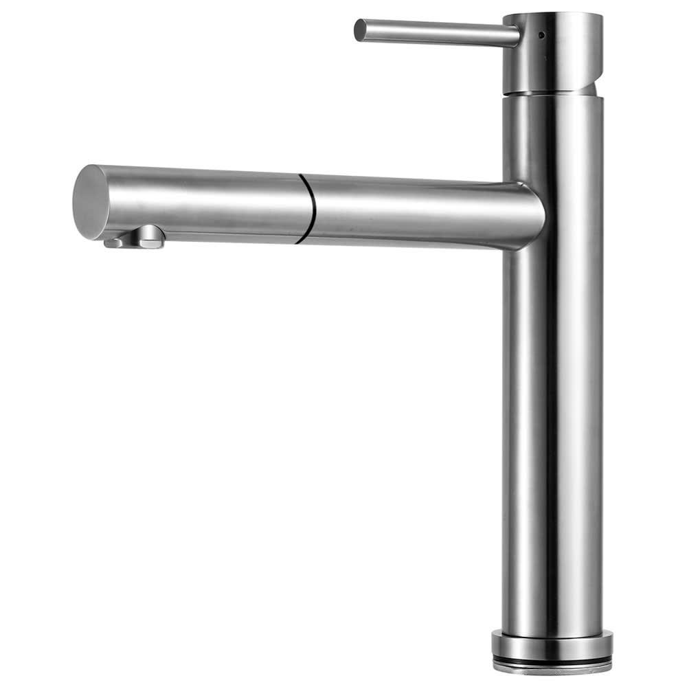 Architekt Steel Küchenarmatur mit starrem Auslauf, mit ...