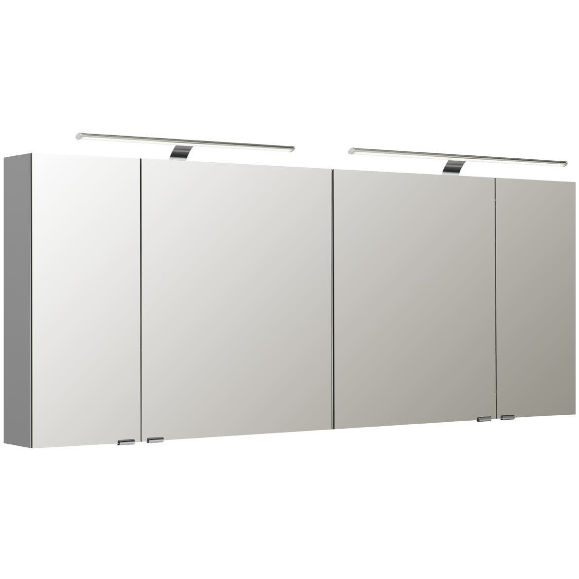 Pelipal S5 Spiegelschrank 180 x 16 x 70 cm mit 2 LED Aufsatzleuchten ...
