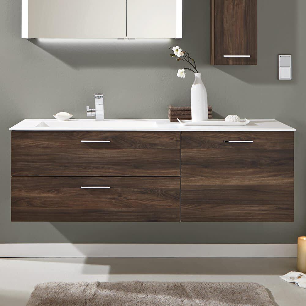 Doppelwaschtisch mit unterschrank 150  Puris Milano Waschtischunterschrank 150 x 47 x 48 cm mit 1 Tür ...