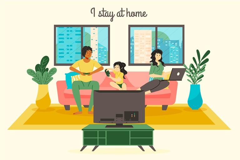 tetap di rumah