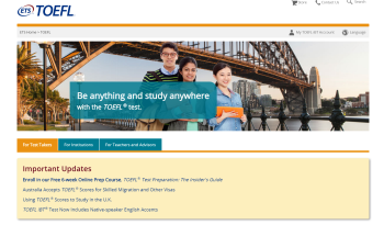 Test of English as a Foreign Language internet-based test