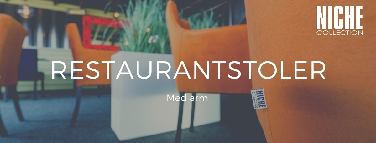 Restaurantstoler m/arm