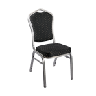 Royal Konferansestol sort/ aluminium