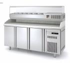 Kjølt pizzabenk kjølt renne, marmor og dører tilpasset 40x60