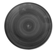 Tallerken flat Ø 22 cm Ceres, svart