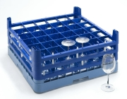 Oppvaskkurv glass 74x74x165mm , mørkblå