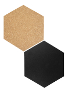 Hexagon tavle 15,5 x 18 cm