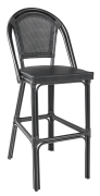 Paris barstol, svart textilene