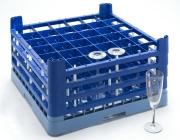 Oppvaskkurv glass 74x74xh215mm Mørkblå