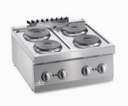 ATA Elektrisk koke topp, 4 RUNDE PLATER