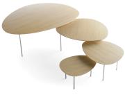 Stilige bord i ulike størrelser.