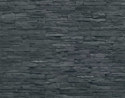 Black stone-like strata