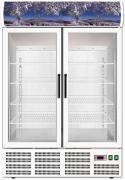 Kjøleskap med 2 glassdører