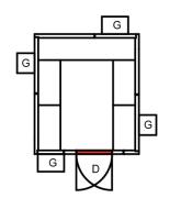 Fryserom 1830 x 1630 x2200mm