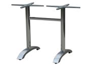 Bordunderstell i aluminium til store bord. Polished/ blank