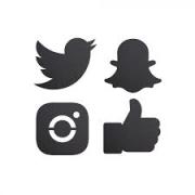 Siluett tavler - sosiale medier