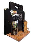 bord meny og utstyrs-holder