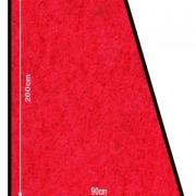 Robust anti-skli teppe, Rød