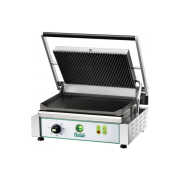 Medium Pressgrill 420 mm, slett bunn rillet topp