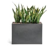 Kado blomsterkasse, mørk grå