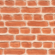 Rød røff murstein