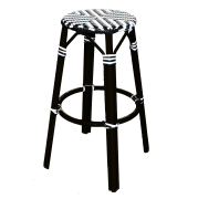 LORETTE STOOL SORT/ HVIT