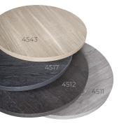 Laminat topp Ø60 cm 30mm Farge 4512