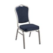 Royal konferansestol blå/sølv