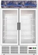 FORCAR kjøleskap med 2 glassdører