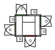 KJØLEROM 2790 x 2190 x2160mm