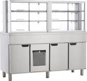 Kjølt kafateriadisk Dim: 1600x650x1500mm